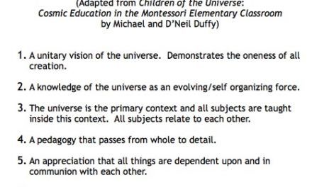 Definition of Cosmic Education
