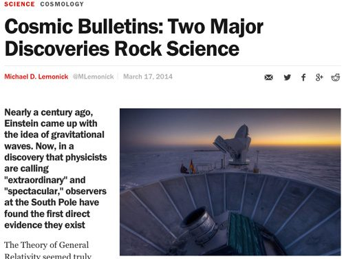 Cosmic Bulletins: Two Major Discoveries Rock Science