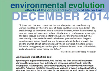 Environmental Evolution newsletter for December 2014