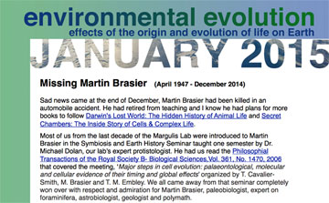 January 2015 Environmental Evolution newsletter