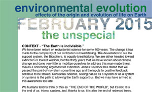 February 2015 Environmental Evolution newsletter