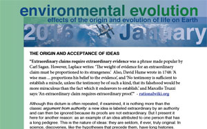 January 2016 Environmental Evolution newsletter