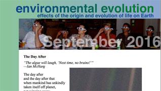 September 2016 Environmental Evolution newsletter