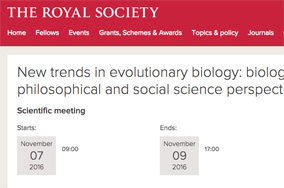 New trends in evolutionary biology: biological, philosophical and social science perspectives