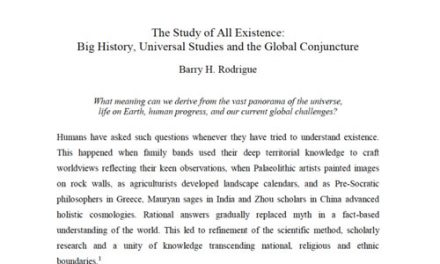 The Study of All Existence: Big History, Universal Studies and the Global Conjunction