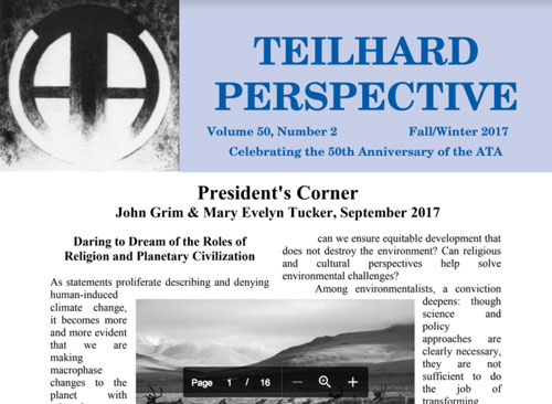 Teilhard Perspective, Fall/Winter 2017