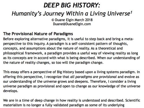 Deep Big History: Humanity's Journey Within a Living Universe