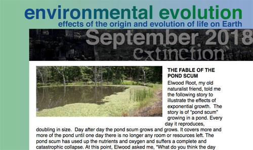 September 2018 Environmental Evolution newsletter