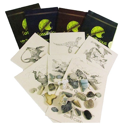 Young Paleontologist Book and Fossil Collection
