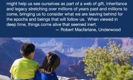 Deeptime Awareness Quote by Robert MacFarlane