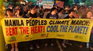 Manila joins the climate march, organized by Elizabeth Carranza and John Leydon and others.