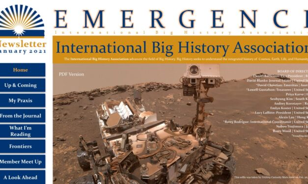 Mergence: Newsletter of the International Big History Association