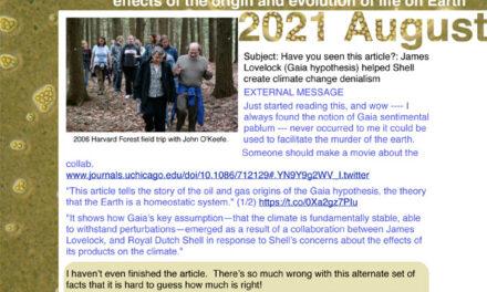 2021 August Environmental Evolution newsletter
